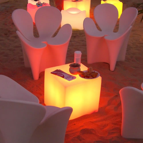 Cubes lumineux led 45 x 45 cm nirvana cubes lumineux for Luminaire exterieur cube