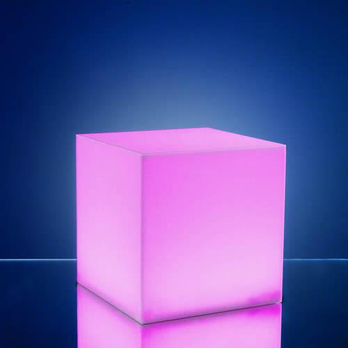 cubes lumineux led 15 x 15 cm nirvana centre de table. Black Bedroom Furniture Sets. Home Design Ideas