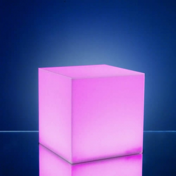 cubes lumineux led 15 x 15 cm nirvana centre de table. Black Bedroom Furniture Sets. Home Design Ideas