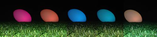 Ballon de rugby couleurs