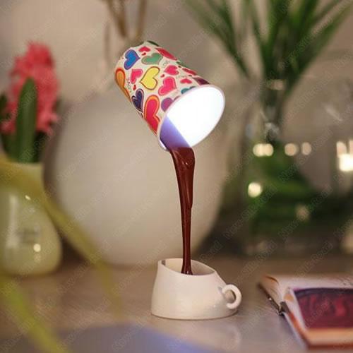 Lampe LED faux gobelet café