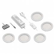 KIT 3 OU 5 SPOTS LED EXTRA PLAT ECLAIRAGE TACTILE