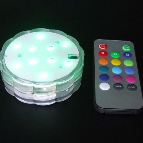 Base lumineuse led changement de couleurs lampion led for Lampion led exterieur