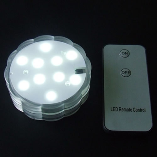 Base lumineuse led submersible blanche for Lampions exterieur led