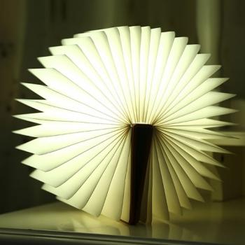 LAMPE LED LIVRE COUVERTURE BOIS