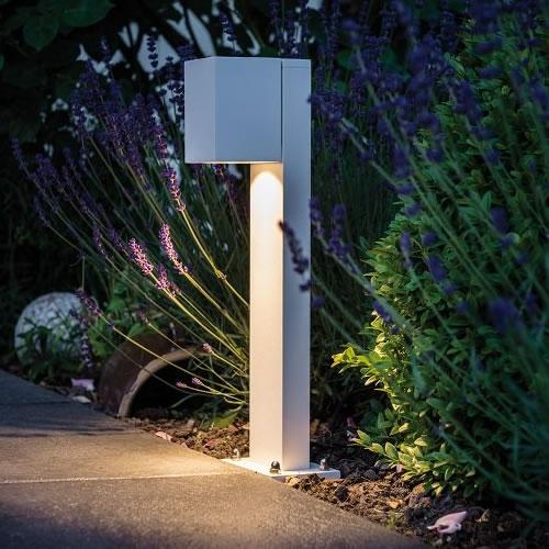 Borne led orientable cube flame luminaire led ext rieur - Luminaire exterieur borne ...