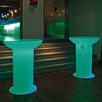 TABLE HAUTE LOUNGE UP LED RVB