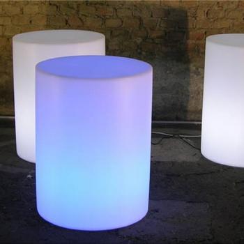 Pouf lumineux avec fil cylindre Venice