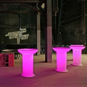 TABLE HAUTE LOUNGE UP LED RVB