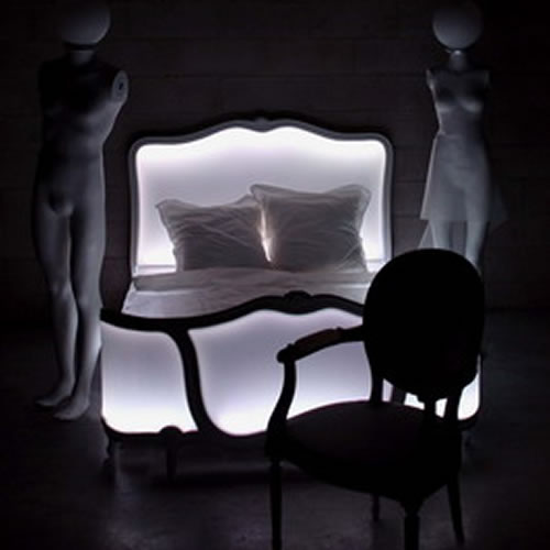 lit lumineux a led poesy meuble design lumineux. Black Bedroom Furniture Sets. Home Design Ideas