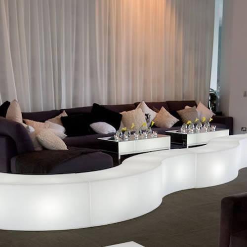 banc lumineux snake fauteuil lumineux design. Black Bedroom Furniture Sets. Home Design Ideas
