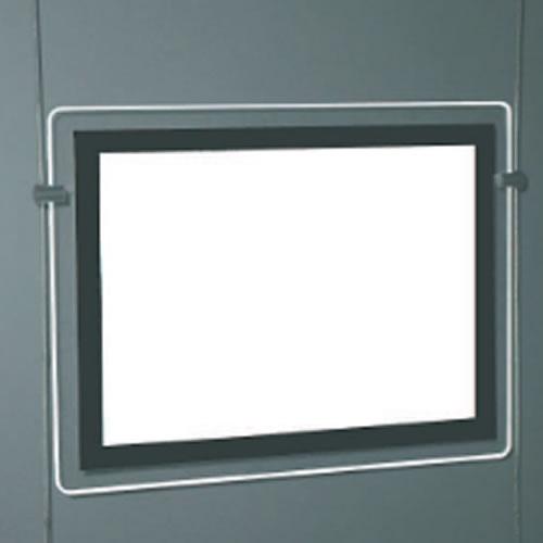Porte affiche lumineux pour vitrine led for Porte affiche exterieur