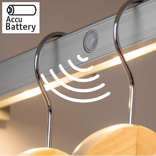 Tringle lumineuse sans fil r glette led for Eclairage automatique interieur