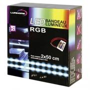 RUBAN LED RVB 2 x 50 CM AVEC TELECOMMANDE