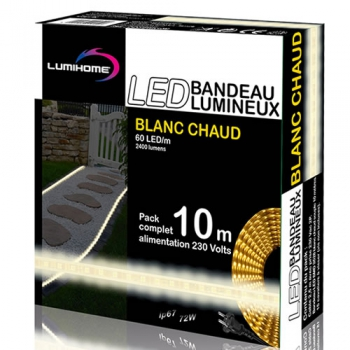 ruban led blanc chaud pack 10m kits ruban led. Black Bedroom Furniture Sets. Home Design Ideas