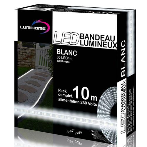 ruban led blanc froid pack 10m kits ruban led. Black Bedroom Furniture Sets. Home Design Ideas