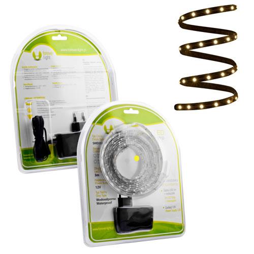 ruban led blanc chaud pack 3m blister kits ruban led. Black Bedroom Furniture Sets. Home Design Ideas