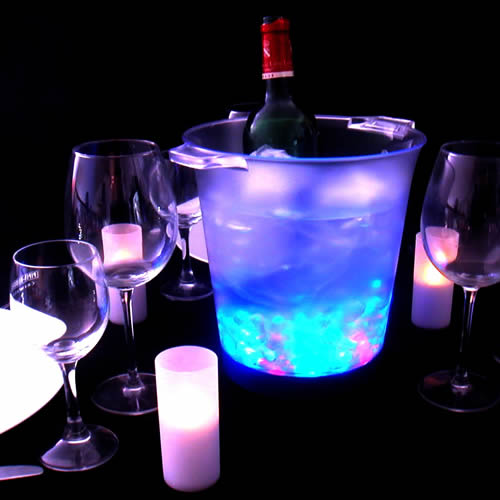 seau a champagne led 1 bouteille seau champagne. Black Bedroom Furniture Sets. Home Design Ideas