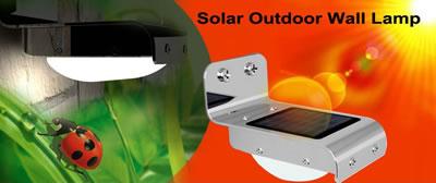 Solar outdoor wall lamp