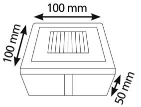 Pavé LED solaire carré