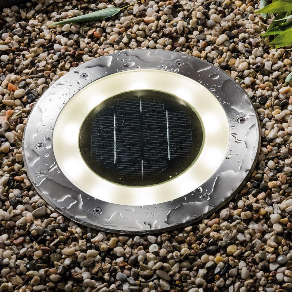 spot led solaire a encastrer 11 lumens eclairage led solaire. Black Bedroom Furniture Sets. Home Design Ideas
