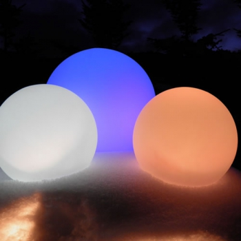 SPHERE LUMINEUSE LED PATIO<br>Ø 65 CM