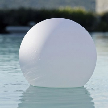 Boule lumineuse led patio 20 cm boules lumineuses sans fil for Sphere led exterieur