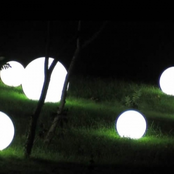 Sphere lumineuse led patio 50 cm boules lumineuses for Sphere led exterieur