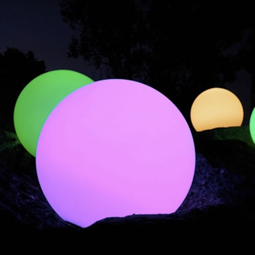 Sphere lumineuse led patio 65 cm boules lumineuses for Sphere led exterieur