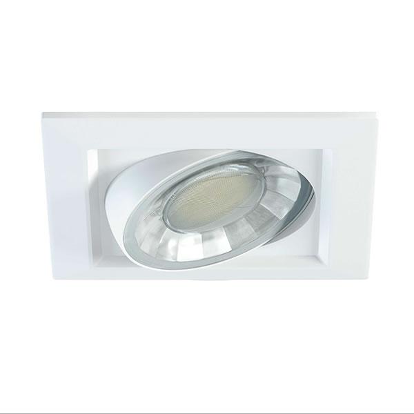 Spot led encastrable et orientable carre compac spot led - Spot led encastrable plafond orientable ...