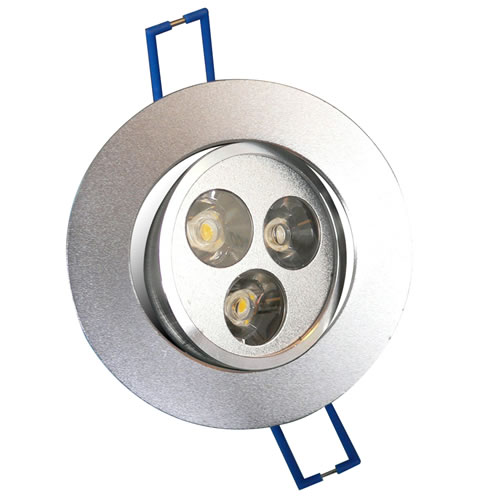 Spot 3 led x 3w encastrable et orientable spot led pour for Spot exterieur orientable encastrable