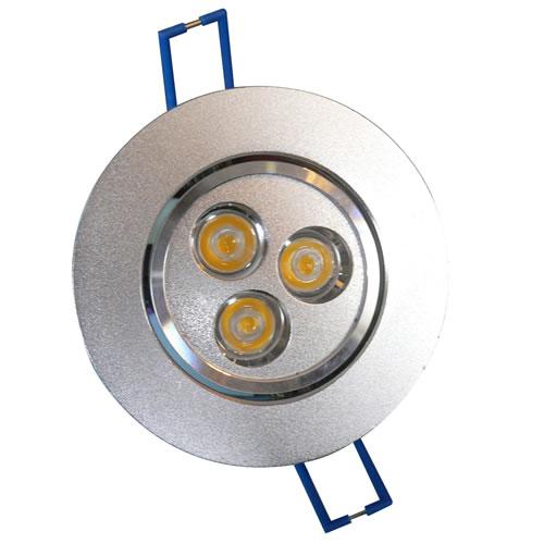 Spot 3 led x 3w encastrable et orientable spot led pour for Spot exterieur orientable encastrable