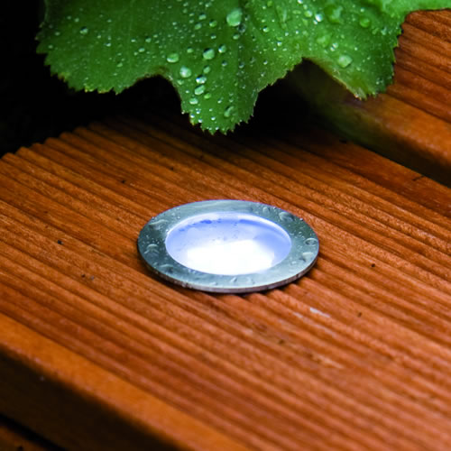 Spot led rond pour terrasse encastrer pack de base for Spot led encastrable exterieur terrasse