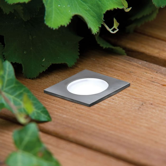 Spot led encastrable pour terrasse carr pack de base for Spot led encastrable exterieur terrasse