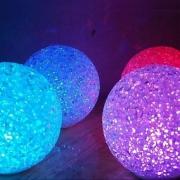 LOT 10 BOULES LED EFFET CRISTAL